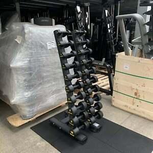 Ziva 1kg-10kg Rubber Dumbbell Set - CLEARANCE - Commercial Gym Equipment