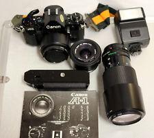 1015 Canon A-1 35mm SLR Film Camera, 70-210 & Accessories