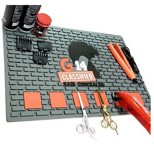 Magnetic Barber Salon Station Mat Anti-skid Silicone