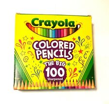 """"""" THE BIG 100 """" Crayola Colored Pencils, Assorted Colors  Pre-sharpened"""