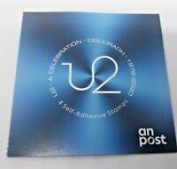 2020 IRELAND U2 A CELEBRATION 1976-2020 SELF ADHESIVE BOOKLET OF 4 IRISH STAMPS