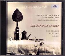 SONATA PRO TABULA Reinhard GOEBEL Biber Schmelzer Valentini MUSICA ANTIQUA KÖLN