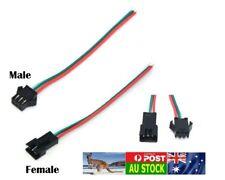 .1x pair 15 cm SM 3P M/F Male/Female connector plug wire AU local fast ship