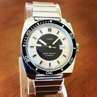 RARE Vintage 1980s Timex Men's Automatic Watch with Stainless Steel Band Retro