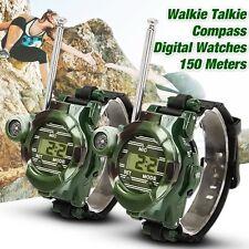 2pcs/set 7in1 Watches Walkie Talkie Children Watch Radio Two Way Interphone Toy