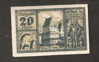Austria Gutschein d Gemeinde St Veit 20 heller 1920 Austrian Notgeld
