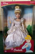"NEW Disney 2003 Cinderella 16"" Porcelain Doll Brass Key Collectible NIB Sold Out"