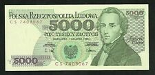 Pologne : 5000 Zlotych 1988 NEUF / UNC