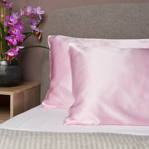 100% Pure and Organic Mulberry Silk Pillow Case - 19 Momme Rose Pink