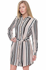 Long Sleeve Party Regular Striped Tops & Shirts for Women