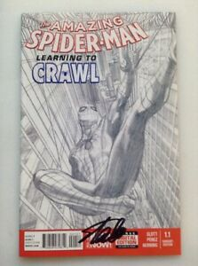 THE AMAZING SPIDER-MAN #1.1 SKETCH 1:200 STAN LEE SIGNED COA ALEX ROSS VARIANT