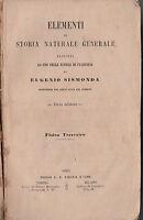 EUGENIO SISMONDA-ELEMENTI DI STORIA NATURALE GENERALE TERZA EDIZIONE-1863-O291