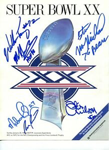 1985 CHICAGO BEARS signed autograph SUPER BOWL XX PROGRAM BECKETT LOA BAS 🎁