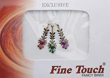Bindi bijou de peau front Bollywood multicolore dot tilak INF D 967