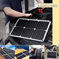 55W Flexible Solarpanel Solarmodul LED 12V 24V Solarzelle  Laderegler