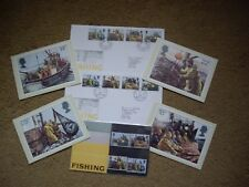 Royal Mail Fishing Stamps 1981 Presentation Pack,Card Set & Two First Day Covers