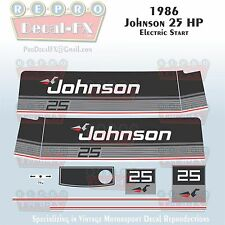 1999-00 Johnson 20 HP Olympic Blue Outboard Reproduction 9 Pc Marine Vinyl Decal