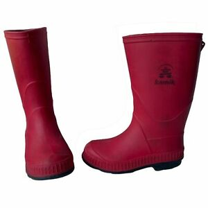 Kamik Girls Toddler size 9T Stomp Rubber Rainboot in Red