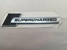 Original Audi Supercharged Badge Carbon Genuine OEM S-Line for all Audi models