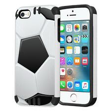 Hybrid Dual Layer Armor Case for iPhone SE / 5S / 5 - Soccer Ball