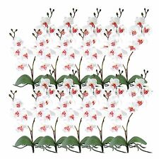 """(Pack of 10) 17"""" Artificial Silk Butterfly Orchid Flower Spray - White"""