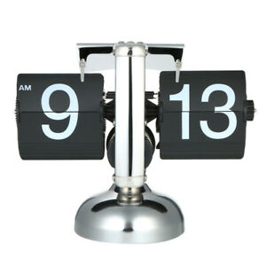 Kupfer Tischuhr mit solidem Metallgehäuse Retro Flip Uhr