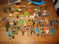 VINTAGE GI JOE Comand center LARGE lot Figure Guns parts accessories  ** LQQK *