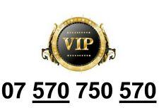 GOLD Easy Memorable UK Business Mobile Phone Number PLATINUM Sim 570 750 570