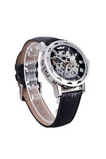 Winner Classic Skeleton Dial Hand Winding Mechanical Sport Army Watch for M X4D7
