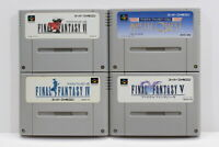Lot of 4 Final Fantasy IV V VI 4 5 6 Mystic Quest SFC Super Famicom Japan Import