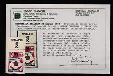FRANCOBOLLI - 1988 REPUBBLICA MILAN AZZURRO L.650 GIALLO EVANESCENTE MNH Z/9498