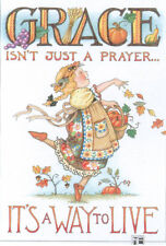 GRACE WAY TO LIVE-Handcrafted Prayer Magnet-Using art by Mary Engelbreit