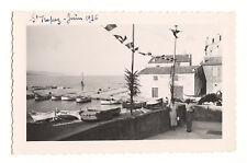 Saint-Tropez Port de pêche bateaux - photo ancienne amateur an. 1936