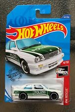 1992 Bmw M3 E30 1/64 White/Green Polizei Hot Wheels Hw Rescue New