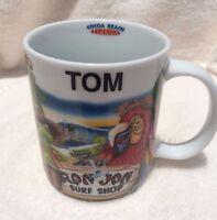 Florida Ron Jon Surf Shop TOM Cocoa Beach Coffee Mug Parrot Tiki Wagon Lantern