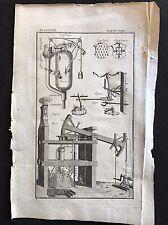 LIBRO ANTICO ORIGINALE STAMPA/Piastra 1772; Autopompa, 1700 S Steampunk