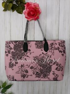 🆕 victoria secret pink tote bag, color pink flowers. W 19 in X 11 in aprox.