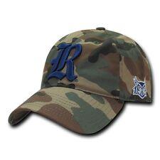 NCAA Rice Owls University 6 Panel Relaxed Camo Camouflage Baseball Caps Hats