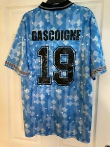 England 1990 World Cup Football Shirt  - Italia 90 - Gascoigne 19 - XL