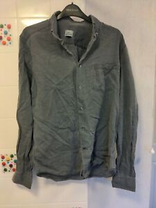 Men's Lacoste Grey Long Sleeve Shirt Size 38 Small