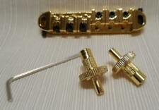NEW GOLD ADJUSTABLE ROLLER GUITAR BRIDGE WITH STUDS FOR GIBSON AND OTHERS
