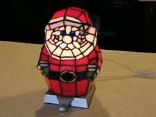 """Vtg Stained Glass  Electric Stocking Holder Hanger 10.5"""" tall,  Estate find"""