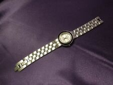ECCLISSI Two Tone Reversible Solid Sterling Silver Bracelet Link Watch