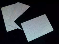 Vintage Pale 'Stone' Formica & Baize Coasters from recyclés 50/60s Furniture x 6