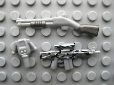 Custom COMBAT WEAPON Lot for Lego Minifigures TACTICAL RIFLE Shotgun GPS -Silver