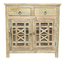 Recycled Timber French Country Shabby Chic Sideboard Cabinet Buffet Vanity Glass