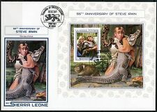 SIERRA LEONE 2017  55th BIRTH  ANNIVERSARY  OF STEVE IRWIN  S/S  FIRST DAY COVER