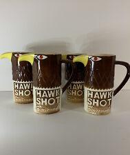 Vintage Smirnoff Vodka Hawk Shot Cups Collectible Cocktail Bar Set of 4