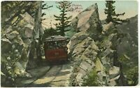 Granite Gate Mt Lowe Pacific Electric Railroad Train California Vintage Postcard