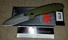Benchmade H&K Heckler & Koch Unsub Knife Green Assisted Opening Combo Blade
